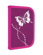 Karton P+P Penál 1 patrový s chlopní, vybavený - Motýl