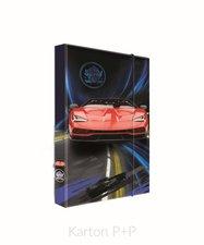 Karton P+P Box na sešity A4 auto 3-74318