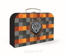 Karton P+P Kufřík lamino 34 cm vlk