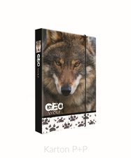 Karton P+P Box na sešity A4 Jumbo GEO WILD vlk