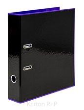 Karton P+P Pořadač A4 lamino páka 7cm REVERSE BLACK LINE fialová