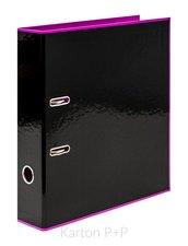 Karton P+P Pořadač A4 lamino páka 7cm REVERSE BLACK LINE růžová