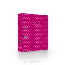 Karton P+P Pořadač A4 lamino páka 7cm SILVER růžová