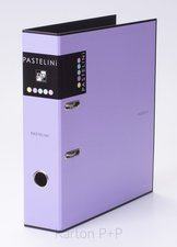 Karton P+P Pořadač A4 lamino páka 7cm PASTELINI fialová