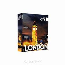 Karton P+P Pořadač A4 lamino páka 7cm GEO CITY London