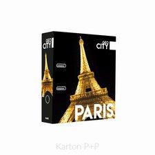 Karton P+P Pořadač A4 lamino páka 7cm GEO CITY Paris