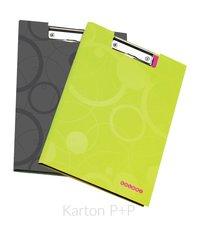 Karton P+P Dvojdeska A4 lamino Duo Colori šedá-zelená