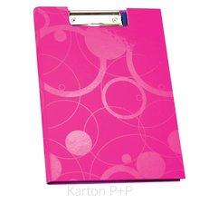 Karton P+P Dvojdeska A4 lamino NEO COLORI růžová