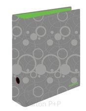 Karton P+P Pořadač A4 lamino páka 7cm Duo Colori šedá-zelená
