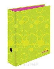 Karton P+P Pořadač A4 lamino páka 7cm Duo Colori zelená-růžová