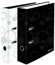 Karton P+P Pořadač A4 lamino páka 7cm Black and White bílá