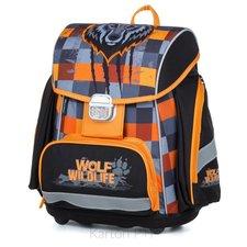Karton P+P Školní batoh PREMIUM vlk
