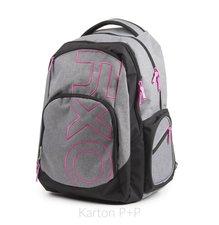 Karton P+P Studentský batoh OXY Style GREY LINE Pink 7-69718