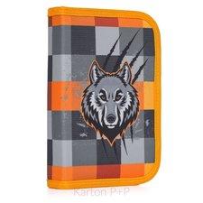Karton P+P Penál 1 p. s chlopní, naplněný vlk