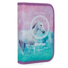 Karton P+P Penál 1 p. s chlopní, naplněný kůň romantic
