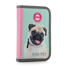 Penál 1 p. s chlopní, naplněný ISHA - My love Pet
