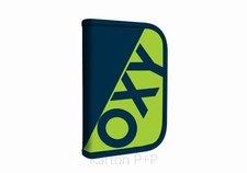 Karton P+P Penál 1 p. 2 chlopně, prázdný OXY NEON LINE Dark Blue 7-90318