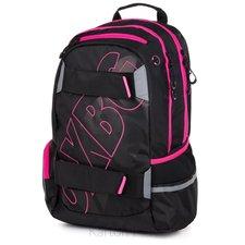 Karton P+P Studentský batoh OXY Sport BLACK LINE pink