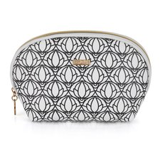 Kosmetická taška kulatá Black & White