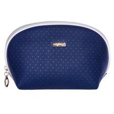 Kosmetická taška kulatá Blue triangles