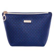 Kosmetická taška hranatá Blue triangles