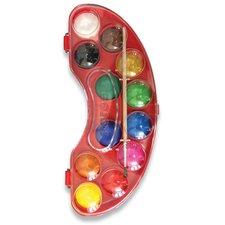 Vodové barvy Kores Akuarellos - 12 barev, průměr 30 mm