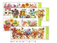 MFP Okenní fólie 877 pruh truhlíkové květiny 60x22,5cm