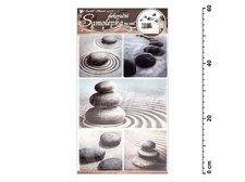 Samolepící dekorace 10030 kameny v písku 60x32cm
