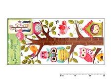 Samolepící dekorace 10097 strom se sovami 70x33cm