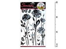Samolepící dekorace 10086 jemné květy 60x32cm
