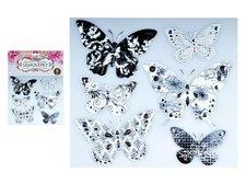 MFP Samolepící dekorace 10275 motýli se stříbrou ražbou 21 x 19 cm