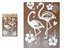 MFP Samolepící dekorace 10281 bílí plameňáci s glitry 35 x 27 cm