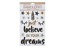 MFP Samolepící dekorace 10396 Believe in Dreams prostorová 36 x 21 cm