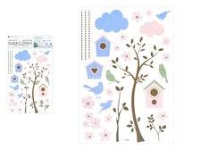 MFP Samolepící dekorace 10455 strom a budky 24 x 42 cm