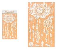 MFP Samolepící dekorace 10462 bílý lapač snů s glitry 24 x 47,5 cm