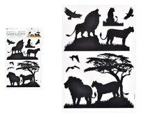 MFP Samolepící dekorace 10474 černá lvi 24 x 42 cm