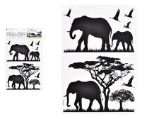 MFP Samolepící dekorace 10475 černá sloni 24 x 42 cm