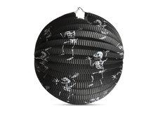 Lampión Halloween kulatý - kostlivci, 25 cm
