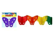 Girlanda papír G08 motýl 4m (18 x 15 cm)