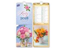Kalendář 2018 pohlednicový Květy