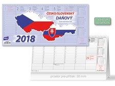 Kalendář 2018 stolní Česko/slovenský