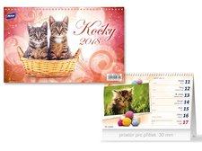 Kalendář 2018 stolní Kočky