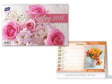 Kalendář 2018 stolní Květiny
