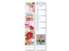 Kalendář 2018 vázankový Květiny