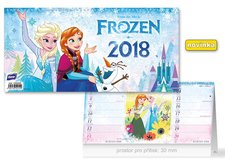 Kalendář 2018 stolní DISNEY Frozen (čtrnáctidenní)