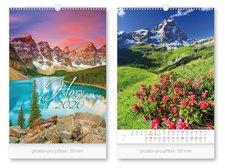 Kalendář 2020 nástěnný Hory