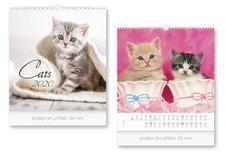 Kalendář 2020 nástěnný malý Cats