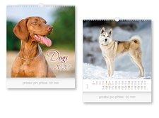 Kalendář 2020 nástěnný malý Dogs