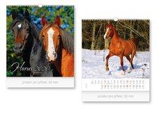 Kalendář 2020 nástěnný malý Horses