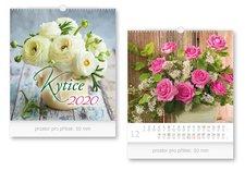 Kalendář 2020 nástěnný malý Kytice